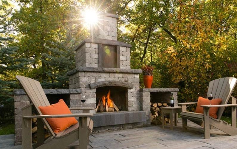 Stone Oasis Fireplace. Designed To Entertain Outdoors
